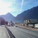 Gotthard-Basistunnel Tunnelbau Eingang