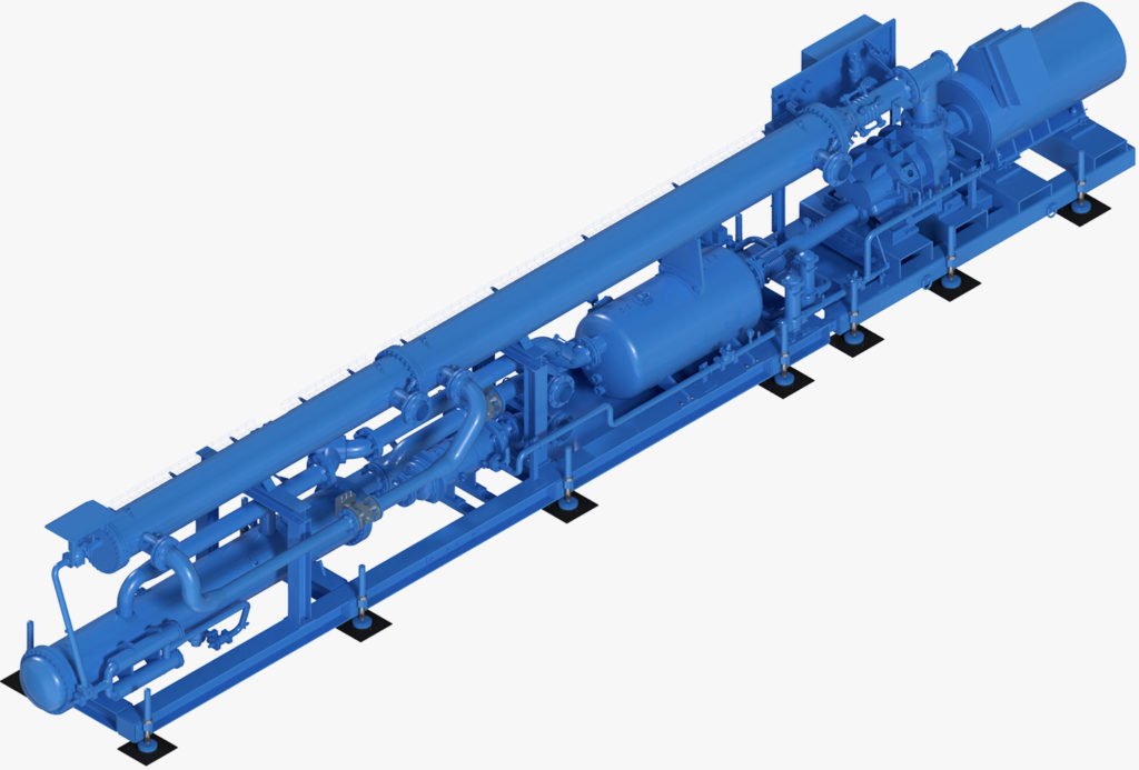 Cold Water Machine Chiller KM1000 for cooling mining and tunnelling 3d