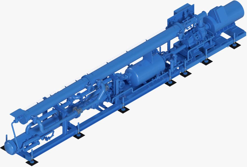 Kaltwassermaschine KM1000 für Kühlung im Bergbau und Tunnelbau 3D-Darstellung