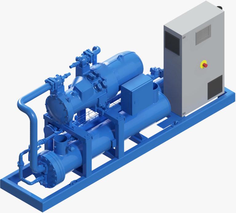 3D Darstellung Kompakt Kaltwassermaschine IDV100 für Kühlung im Bergbau und Tunnelbau