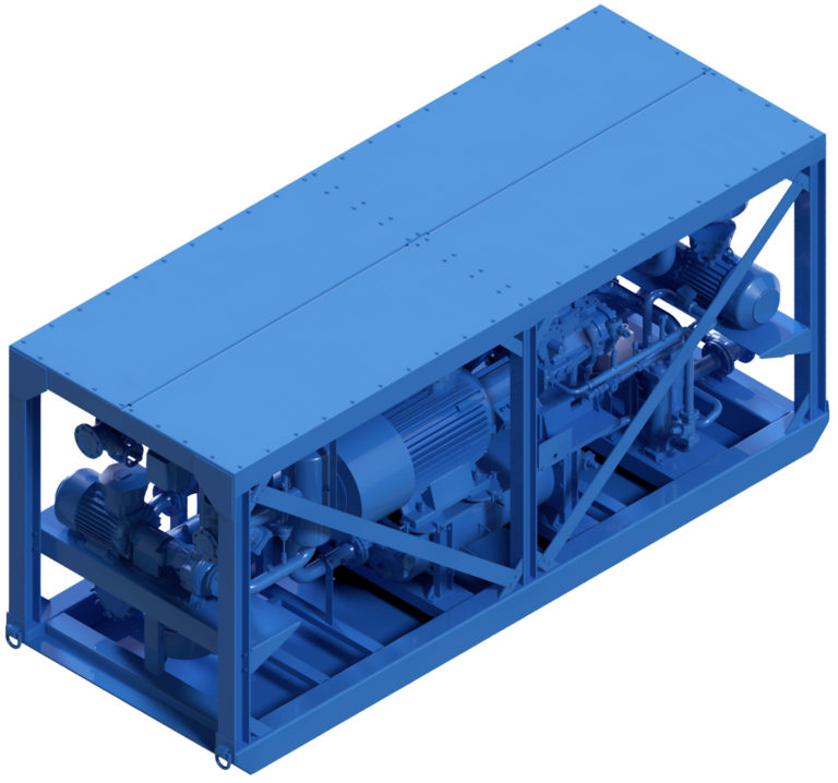 Compact Cold Water Machine Chiller KPM250 ATEX for cooling mining and tunnelling 3D