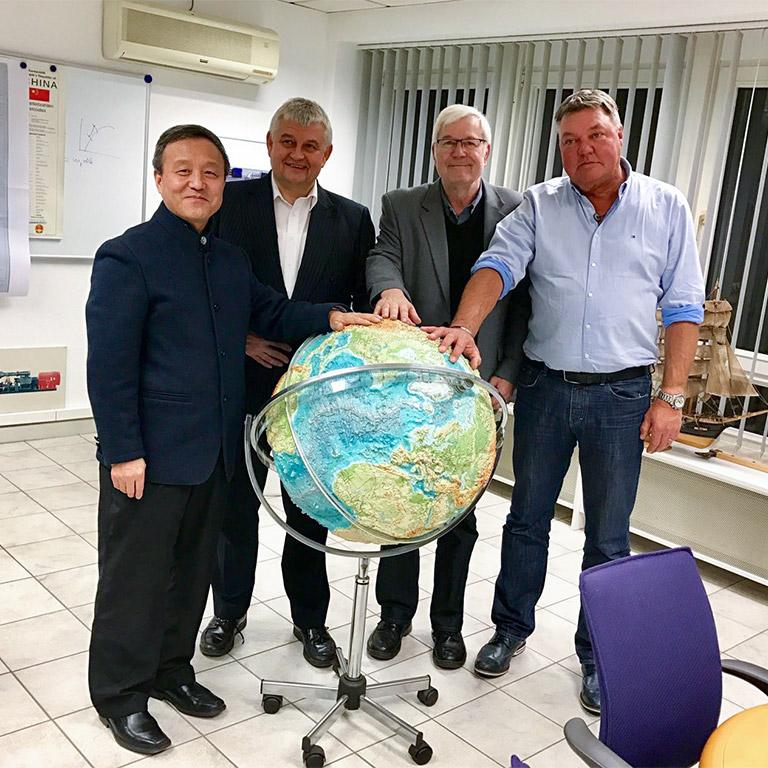 Prof. Wei Luan, Dr. Reinhold Both, Bernd Henting, Dirk Bütefür