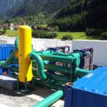 Rückspülfilter beim Gotthard-Basistunnel in der Schweiz
