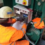 Schaltschrank Verdrahtung DV 420 im Gotthard-Basistunnel für Rückkühlwerk im Tunnelbau