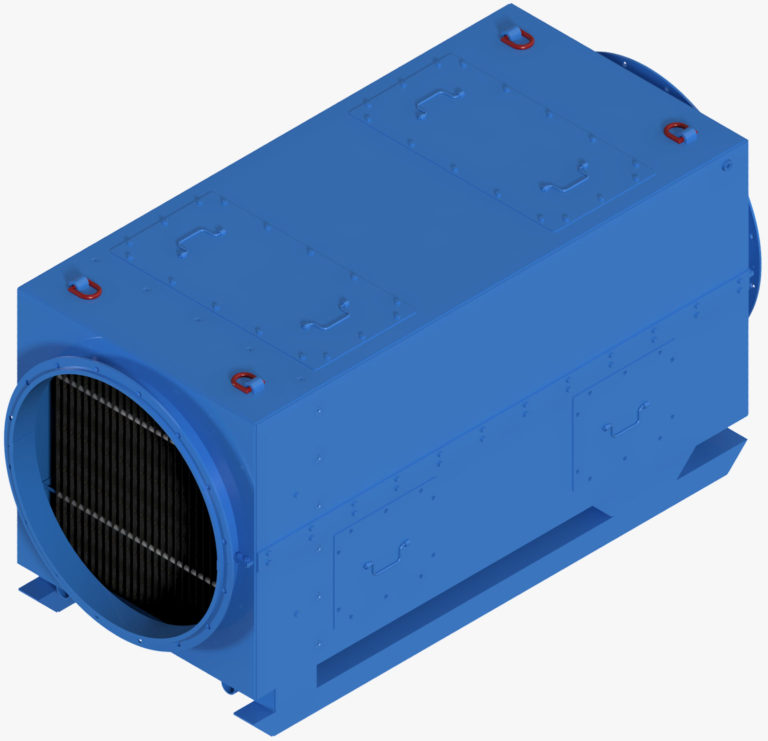 Air-cooler heat exchanger RWK 300 N for cooling mining and tunnelling 3D